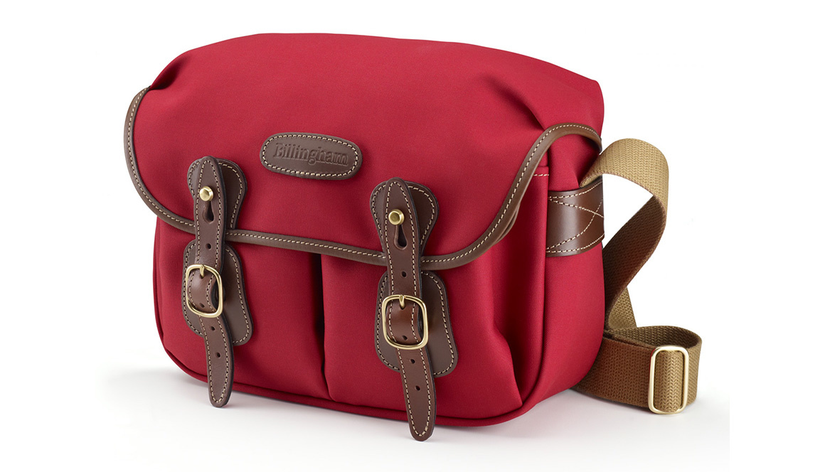 Billingham Hadley small pro - burgundy canvas/chocolate