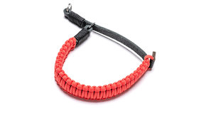 COOPH Leica paracord handstrap created by Cooph, black/red