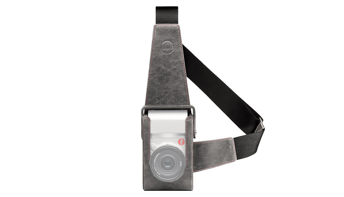 Leica Holster TL, leather, stone grey