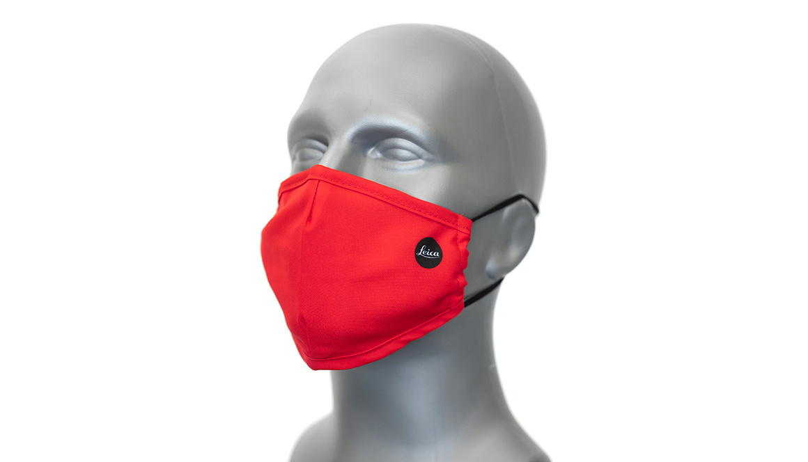 Leica Face mask, Red