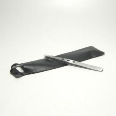Angled tweezers 3 perforation  Professional stainless steel