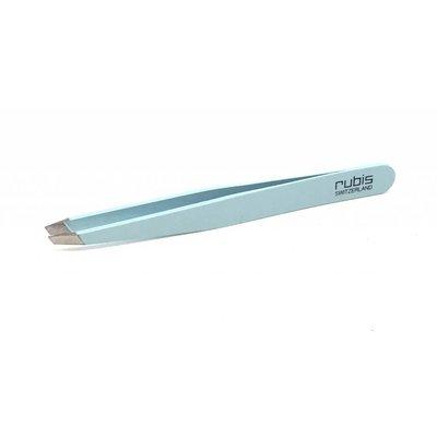 Rubis Tweezers angled light blue 1K112