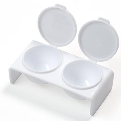 Twin Dappen Dish with Lid