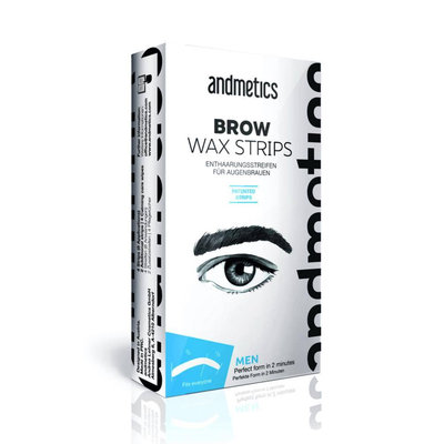 Andmetics Eye Brow Wax Strips Mannen