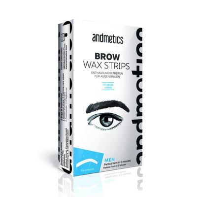 Andmetics Eye Brow Wax Strips Men