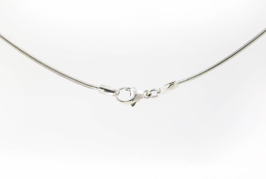 Schlangenkette aus 925er Silber, 1,4 mm