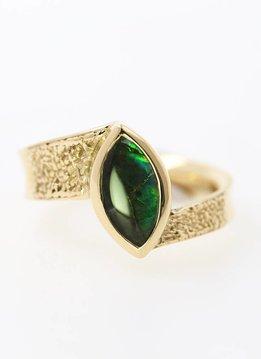 "Ring  ""Secret"" Gold Ammolit"