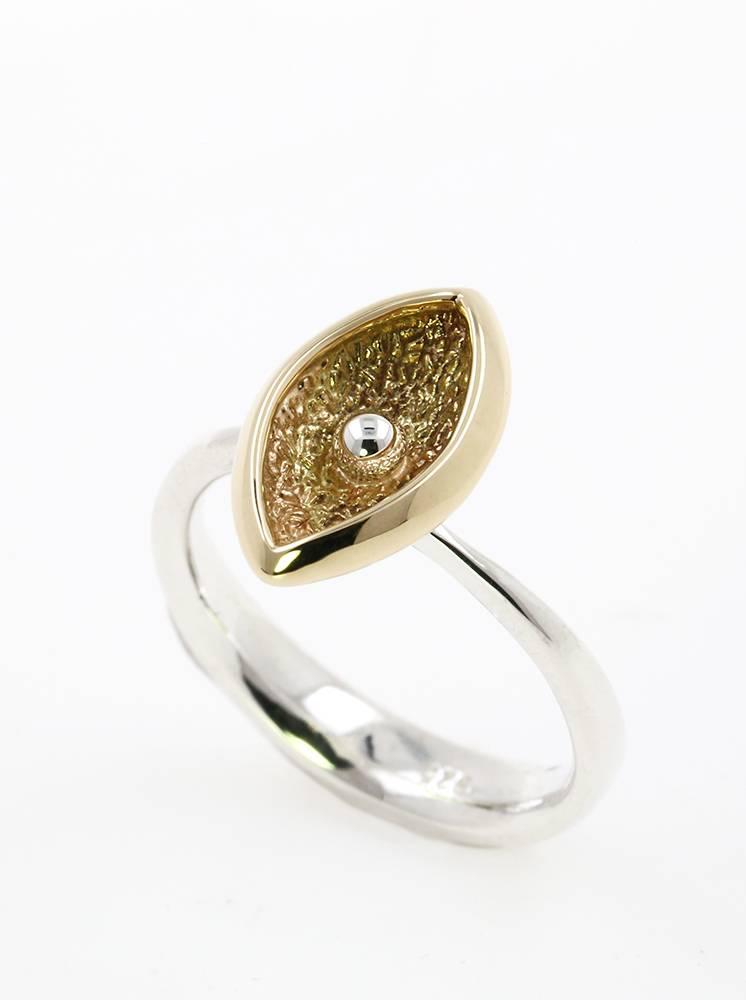 Ring Navette 1 Bicolor