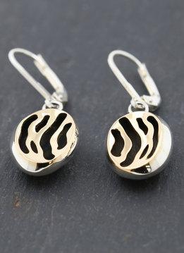 Zebra Ohrringe Bicolor