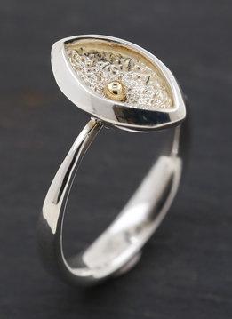 Ring Navette 2 Bicolor