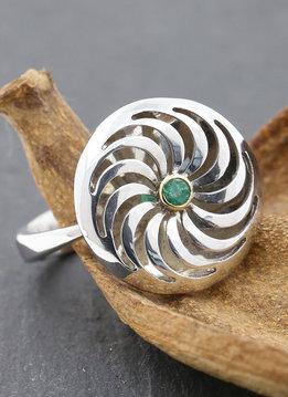 Rügen-Ring Bicolor Smaragd
