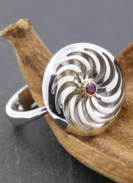Rügen-Ring Bicolor Rubin