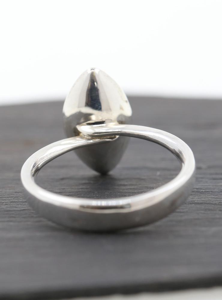 Navette 3: Ring aus 925er Silber und 750er Gelbgold
