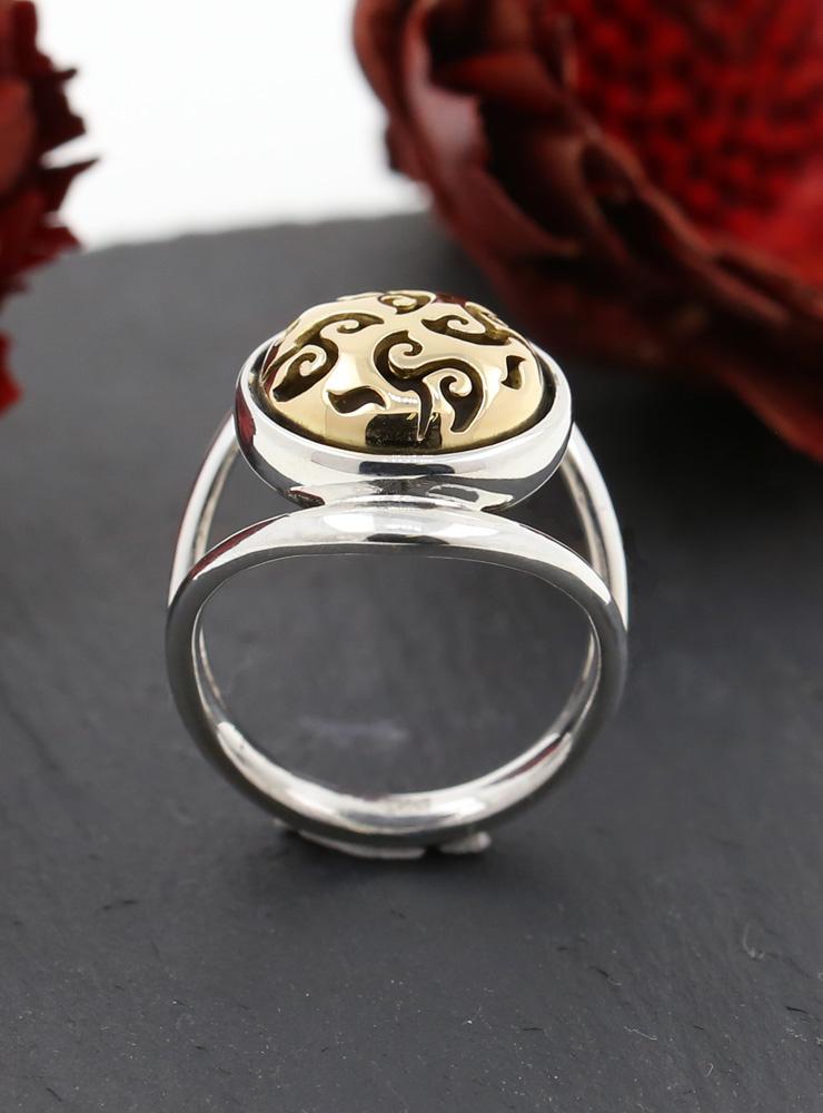 Casablanca: Ring aus 925er Silber und 750er Gelbgold