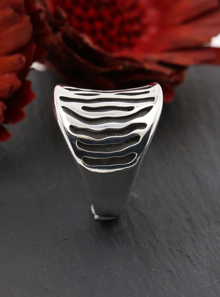 Zebra Ring aus 925er Silber