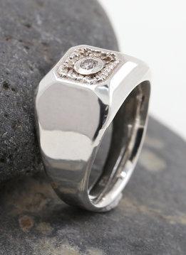 Ring Boston Silber weißer Diamant