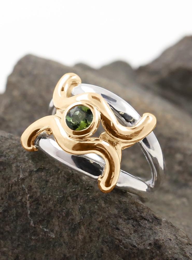 Ring Ariane Bicolor Peridot