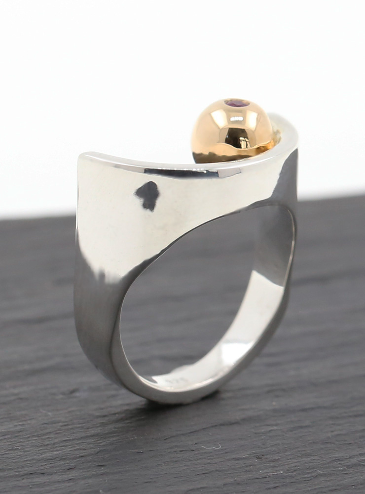 Ring Augapfel Bicolor Rubin