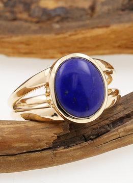 Ring Juno Gold Lapislazuli