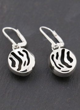 Zebra Ohrringe Silber