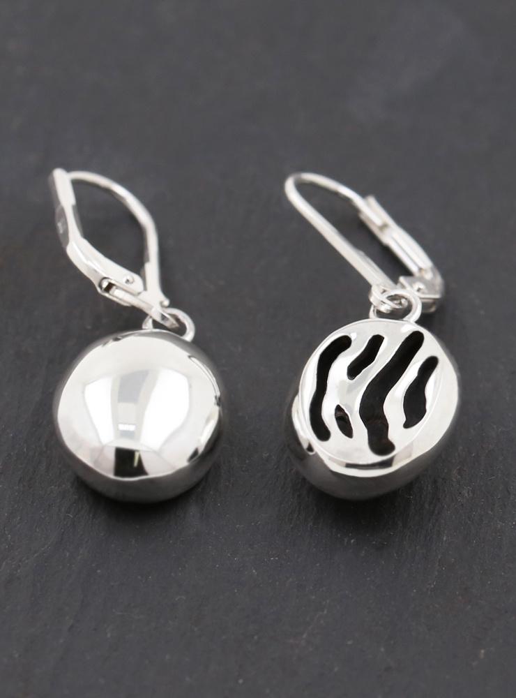 Zebra Ohrringe aus 925er Silber