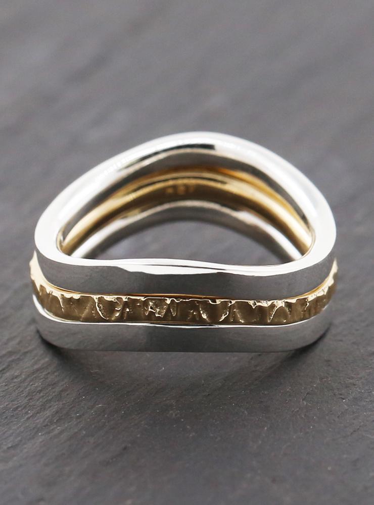Ring Dreiklang Bicolor