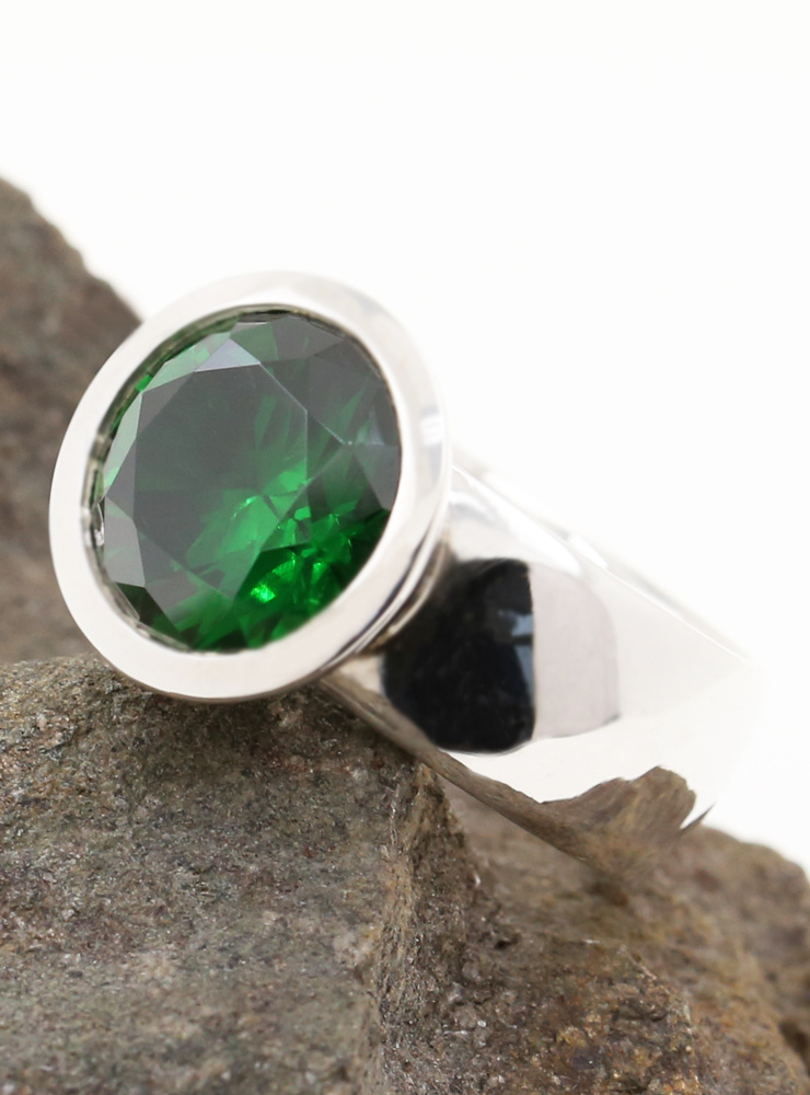 Ring Prunkstück  Smaragdgrün