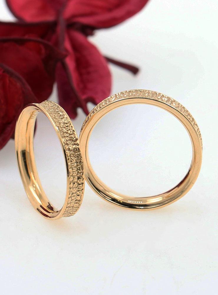 Jorinde: bombierter Ring aus 750er Gelbgold