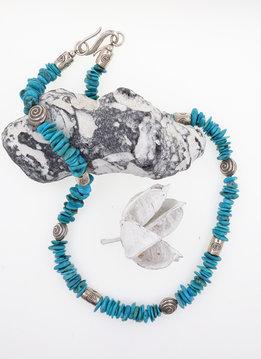 Halskette Türkis, Silber