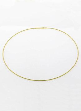 Spirale in 750er Gelbgold, Stahlkern, 42 mm
