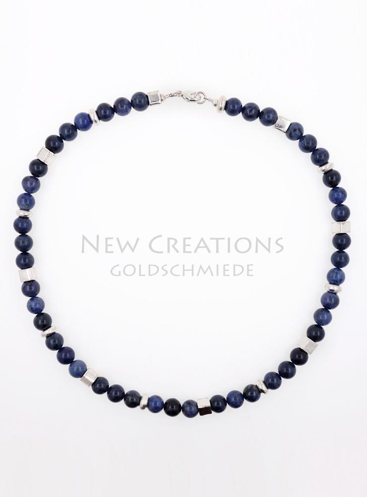 Halskette Dumortierit Silber