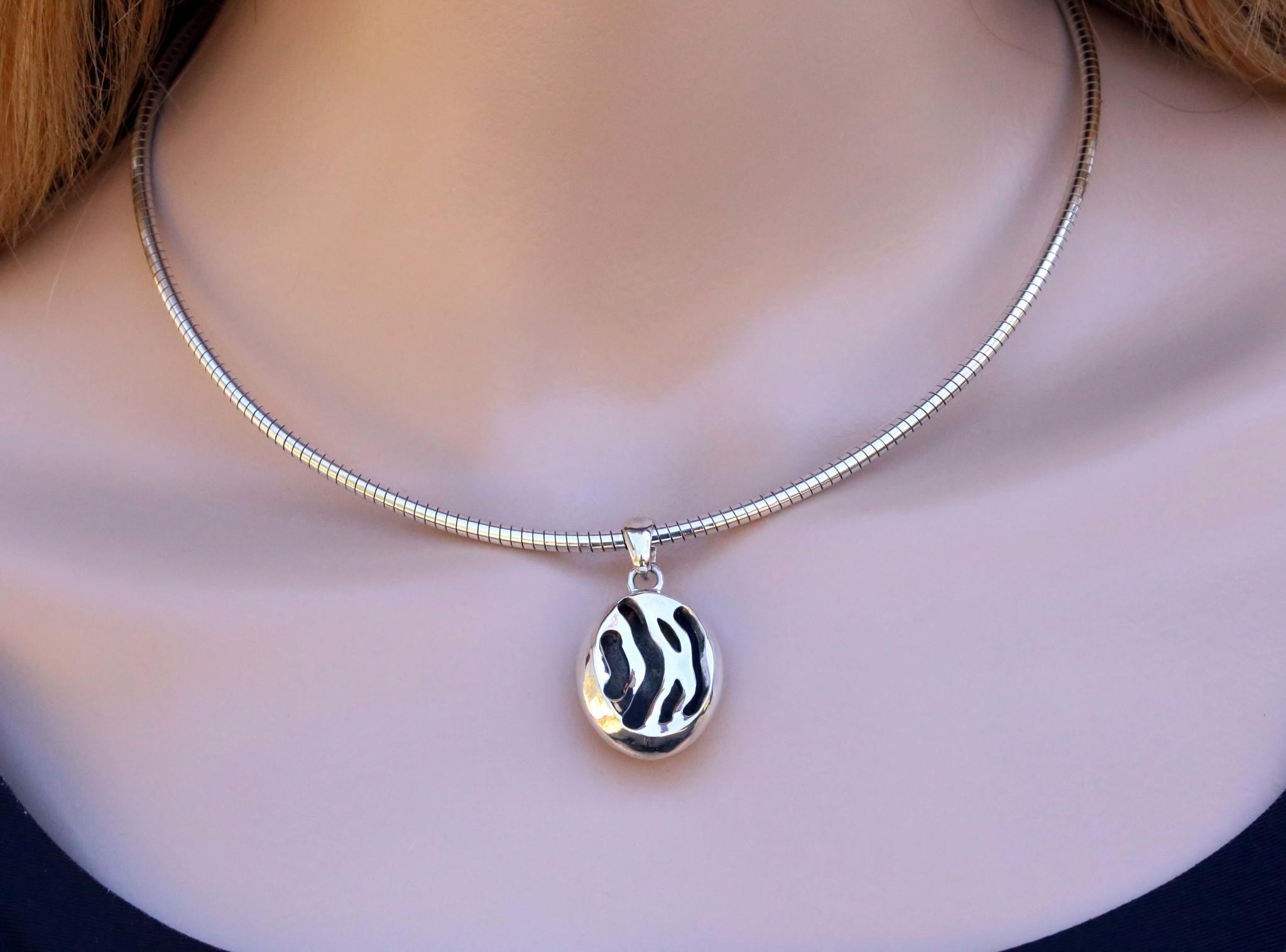 Zebra Anhänger Silber