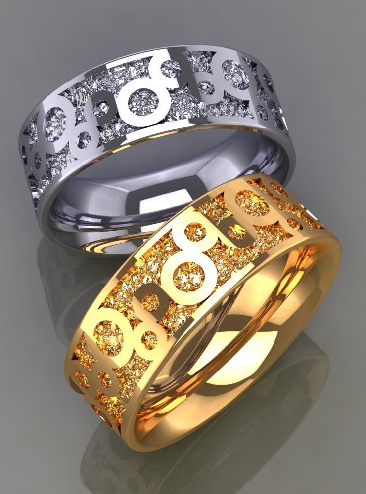 Bubbles: Ehering aus 750er Gelbgold