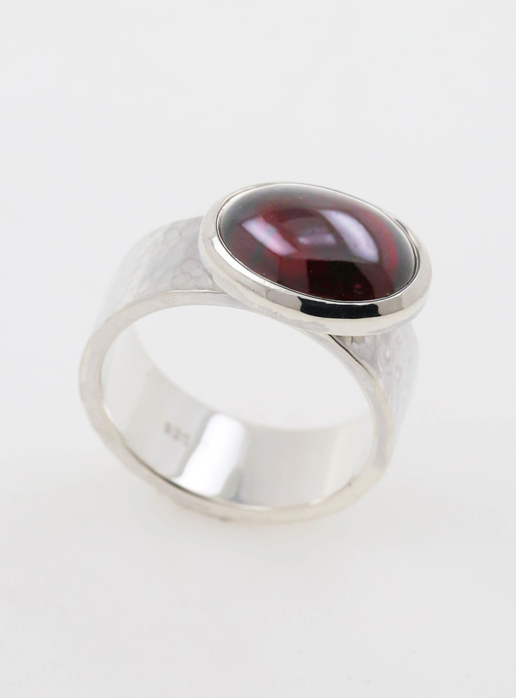 "Ring ""New Creations"" Silber Granat"