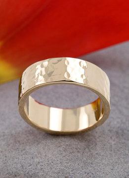 Ring Hammerschlag Gold
