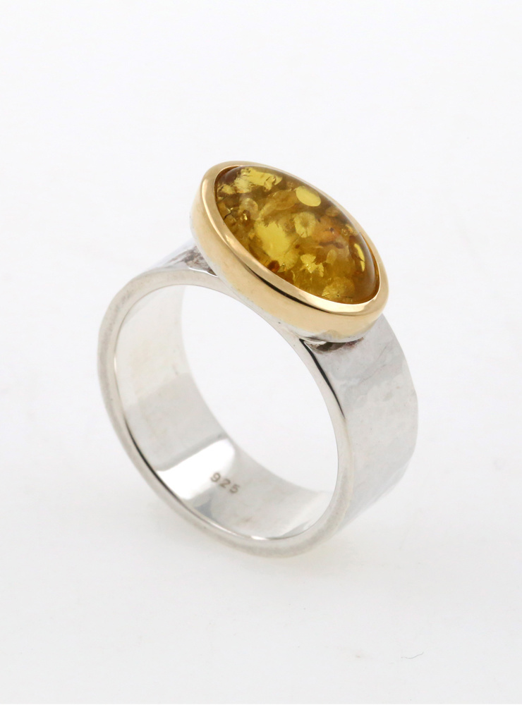 "Ring ""New Creations"" Bicolor Bernstein"