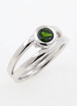 Ring Berlin Silber Chromdiopsid