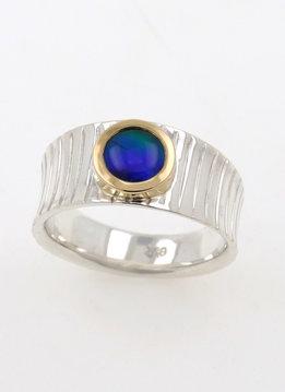 Ring Mainhattan Bicolor Opaltriplette