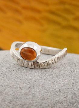 Ring Liane Silber Mandarin Granat