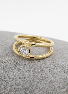 Halbkaräter Ring Clarity Gold Diamant