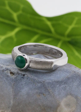 Ring Modern Times  grüner Achat