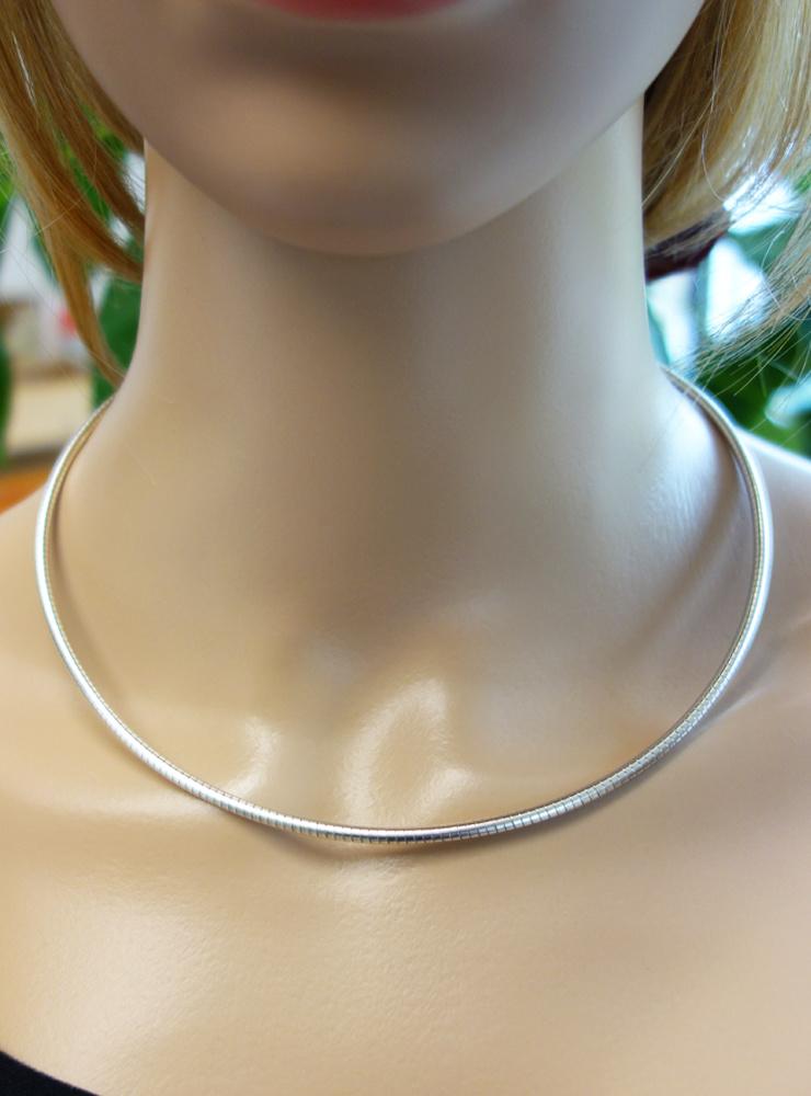 Omegareif aus 925er Silber, 2,8 mm