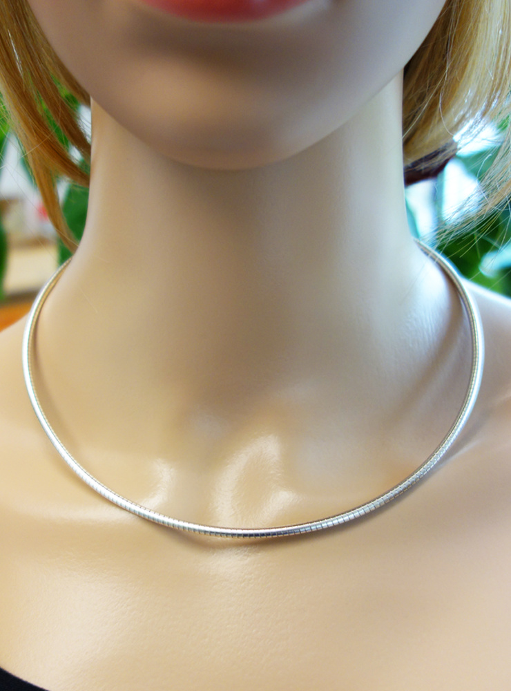 Omega Reif aus 925er Silber, 2,8 mm