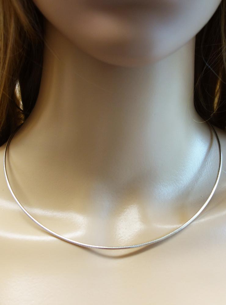 Omegareif aus 925er Silber 1,7 mm