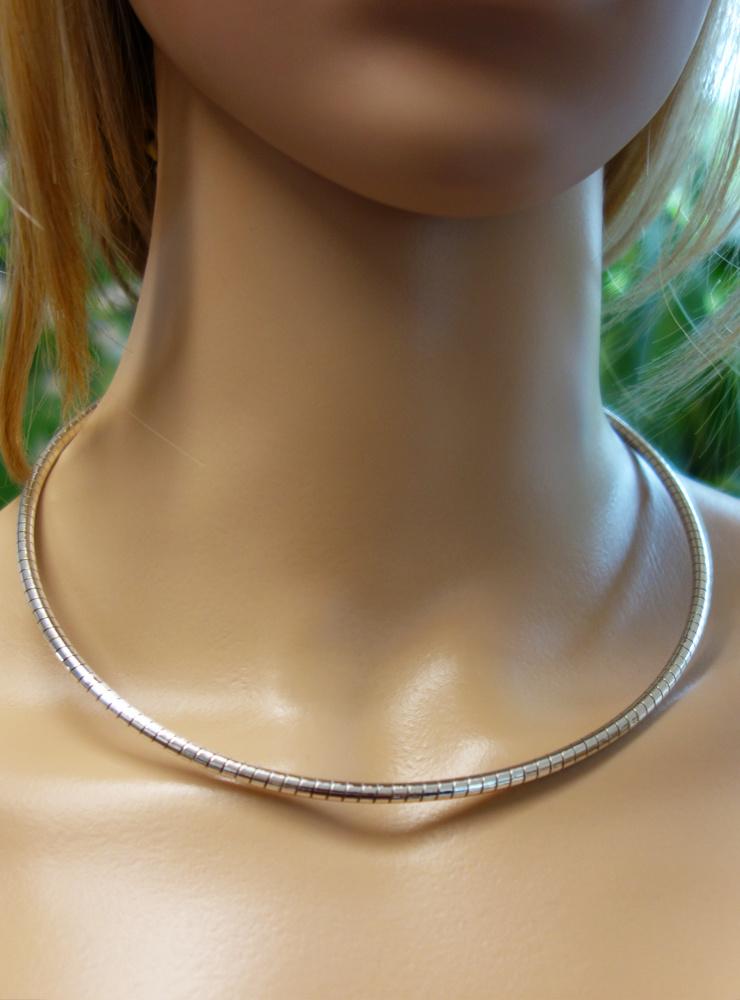 Omega Reif aus 925er Silber, 3,5 mm