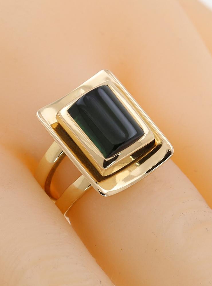 Lucrezia: Ring aus 750er Gelbgold und Turmalin