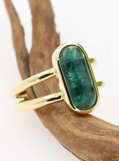 """Ring """"Sense and Sensibility"""" Gold Smaragd"""