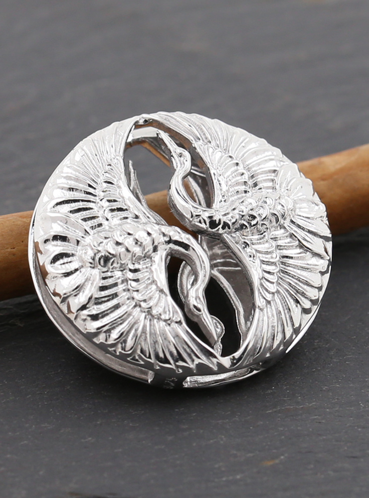 Tanz der Kraniche: Anhänger aus 925er Silber, rhodiniert Variante 2