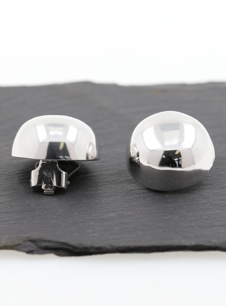Knopf-Clips aus 925er Silber rhodiniert
