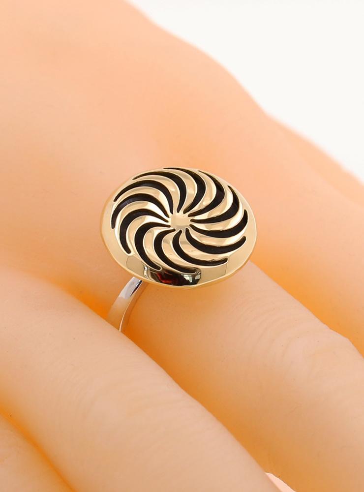Rügen-Ring aus 925er Silber und 750er Gelbgold